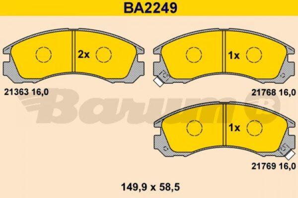 ΣΕΤ ΤΑΚΑΚΙΑ ΔΙΣΚΟΦΡΕΝΑ CITROEN MITSUBISHI PEUGEOT (235422) BREMBO Original / genuine part numbers: 1609252780, 425388, 425430, 4605A492, MB858400, MB895250, MN102611, MN116923, MR129103, MR129104, MR389546, MR389548, MR389549, MR569597, MZ690007, X3511003, 425387, 425430, 235422, P54017, FDB765